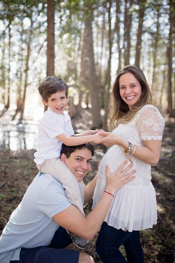 maternity photographer, family of three