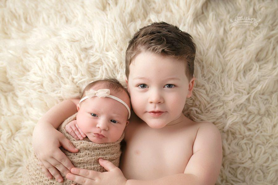 newborn and sibling, newborn photography ottawa