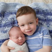 sibling photo with newborn, newborn photography