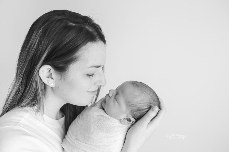 baby and mom, newborn photography